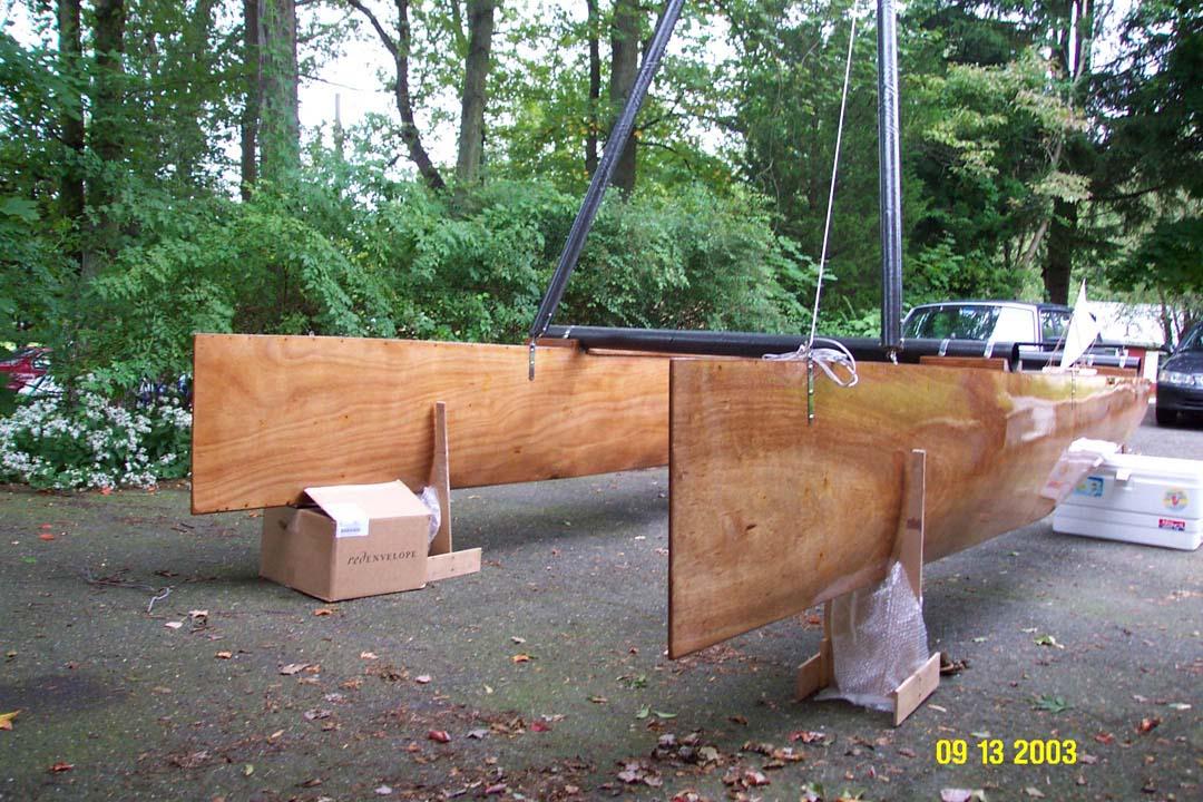 halpa paras verkkosivusto Yhdysvallat Crab Claw Plywood Catamaran: Construction
