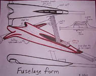 LS-3 fuselage cover design sketches